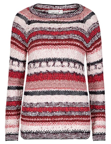 Textured Striped Jumper