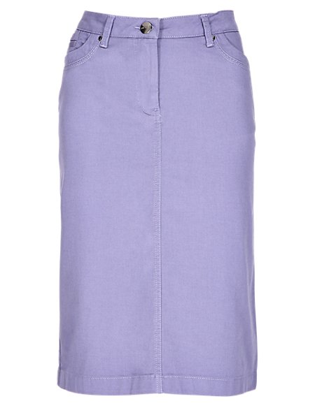 Cotton Rich Chino Pencil Skirt