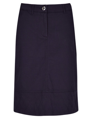 Cotton Rich A-Line Chino Skirt Clothing
