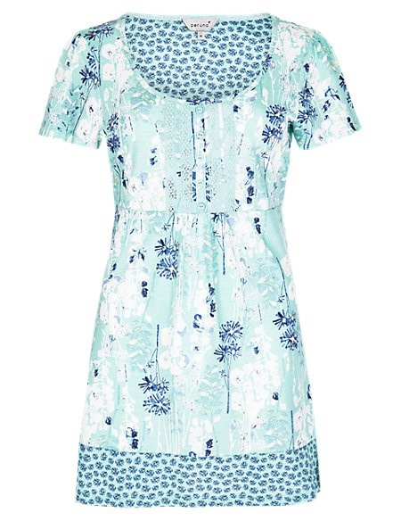 Pure Cotton Floral Tunic