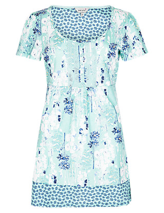 Pure Cotton Floral Tunic Clothing