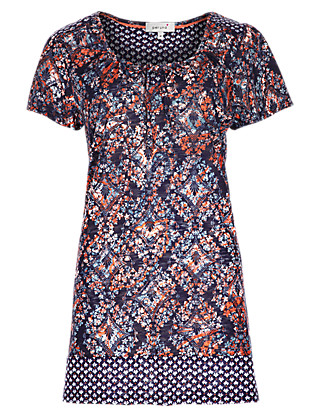 Mixed Print Tunic Clothing