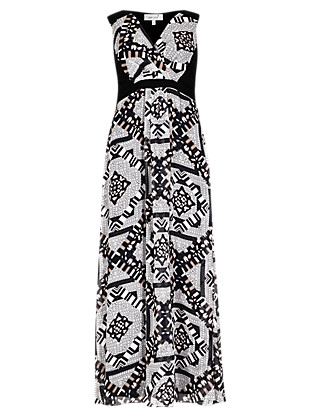 Mirror Print Maxi Dress Clothing