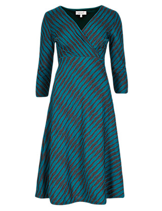 Ripple Textured Fit & Flare Dress Clothing