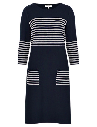 Nautical Striped Tunic Dress Clothing