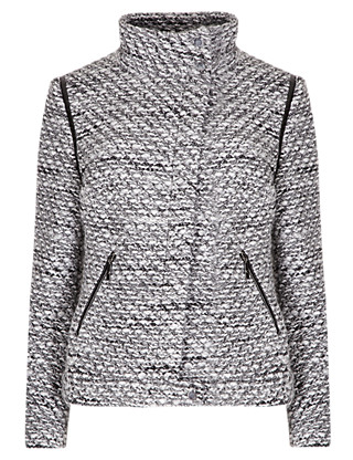 Textured Jacket with Wool Clothing
