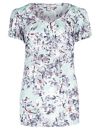 Floral Short Sleeve Top Clothing
