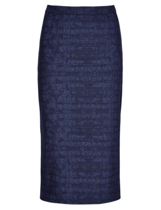 Speziale Cotton Rich Jacquard Long Pencil Skirt Clothing