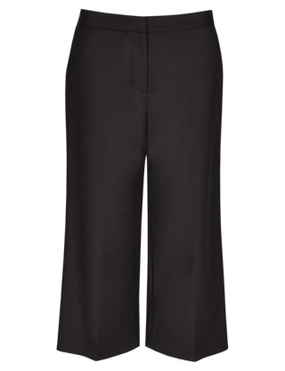 Speziale Wide Leg Cropped Trousers Clothing