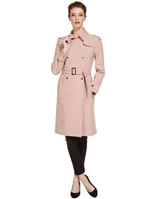 Speziale Collared Neck Trench Coat with Belt | M&S
