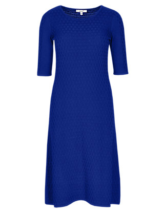 Diamond Knit Dress Clothing