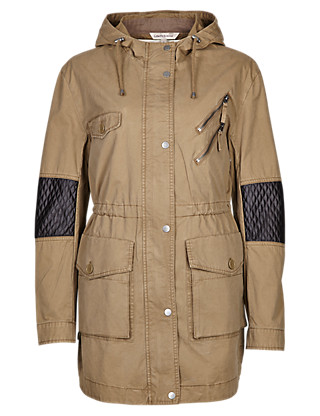 Pure Cotton Borg-Lined Parka Clothing
