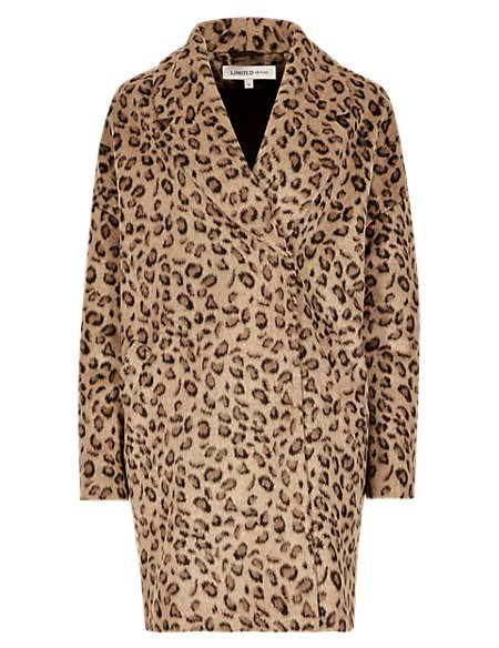 Animal Print Cocoon Coat