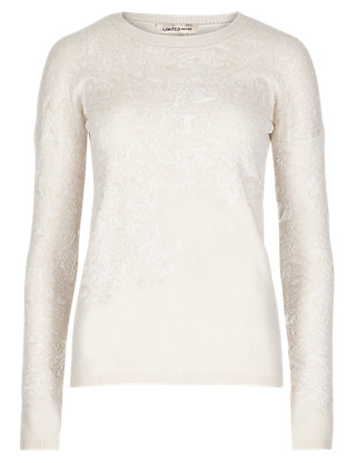 Textured Round Neck Jumper Clothing