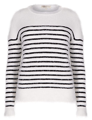 Fluffy Striped Jumper Clothing