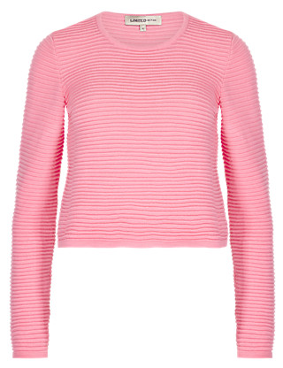 Ribbed Cropped Jumper Clothing