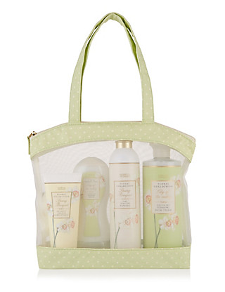 Spring Bouquet Toiletry Gift Bag Home
