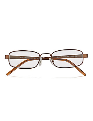 Brown Square Reading Glasses Home