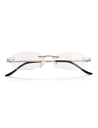 Rimless Oval Reading Glasses Home