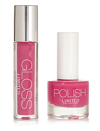 Holly Sharpe Lip Gloss & Nail Duo Set Home