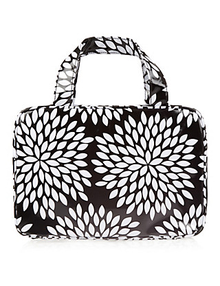 Black & White Floral Wash Bag Home