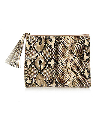 Faux Snakeskin Cosmetic Purse Home