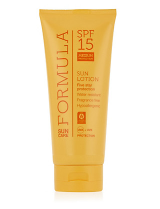Medium Protection Sun Lotion SPF15 200ml Home