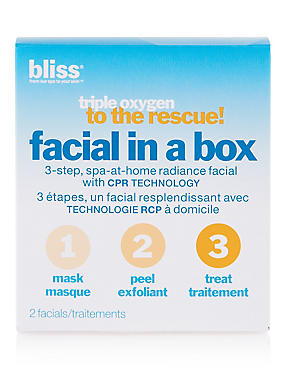 Triple Oxygen to the Rescue Facial in a Box