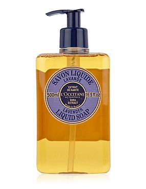 Shea Extract Lavender Liquid Soap 500ml, , catlanding