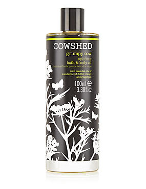 Grumpy Cow Bath & Body Oil 100ml, , catlanding