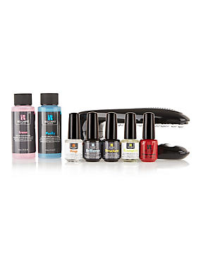 Gel Polish Starter Kit with Portable Plug-In LED Light