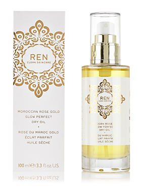 Moroccan Rose Gold Glow Perfect Dry Oil 100ml, , catlanding