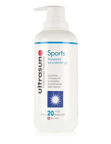 Sports Transparent Sun Protection Gel SPF20 400ml