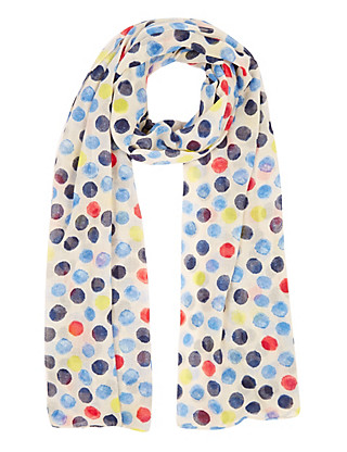Lightweight Spotted Scarf Clothing