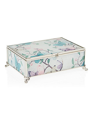 Butterfly Print Medium Jewellery Box Clothing