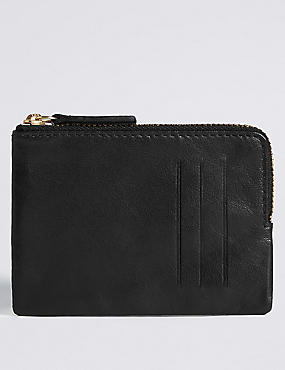 Leather Coin Purse with Cardsafe™