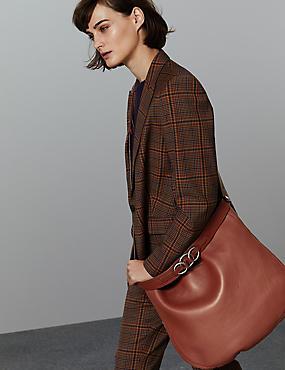 Leather Hobo Bag, RUST, catlanding
