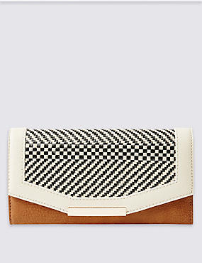 Faux Leather Weave Purse with Cardsafe™