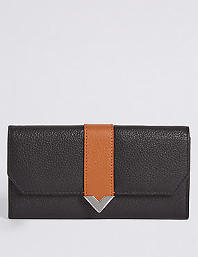 Leather Contrast Purse