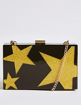 Star Perspex Clutch Bag