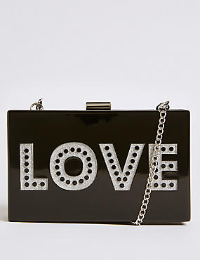Love Box Clutch Bag