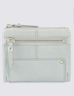 Leather Studded Foldover Purse with Cardsafe™