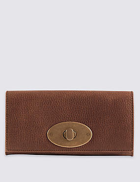 Leather Roundlock Purse with Cardsafe