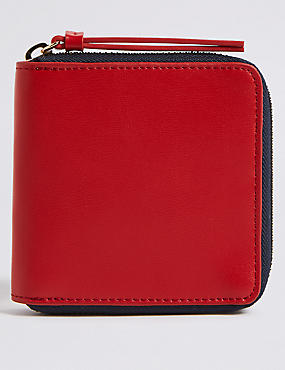 Faux Leather Zip Around Purse with Cardsafe™