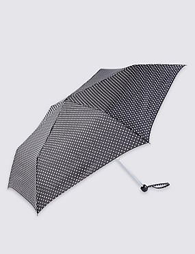 Mini Polka Dot Compact Umbrella with Stormwear™
