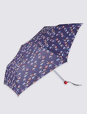 Mini Umbrella Print Compact Umbrella with Stormwear™