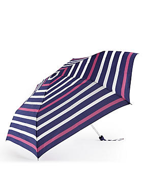 Nautical Striped Compact Umbrella with Stormwear™