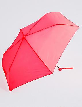 Compact Umbrella with Stormwear™, PINK, catlanding