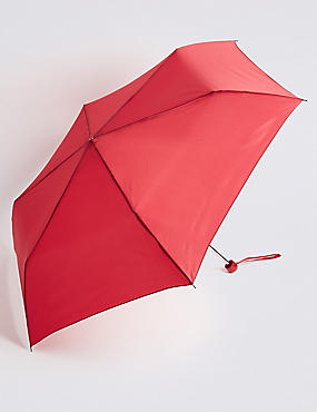 Compact Umbrella with Stormwear™, RED, catlanding