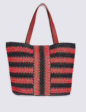Striped Shopper Bag